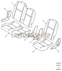 Second Row Seat Pads and Valances Part Diagram