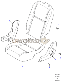 Load Area  Seat Pads and Valances Part Diagram