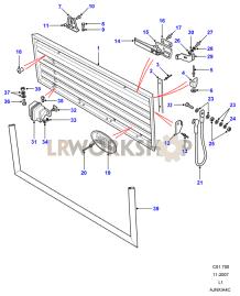 HiCap Tailgate Part Diagram