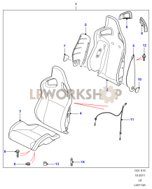 Front seats Part Diagram