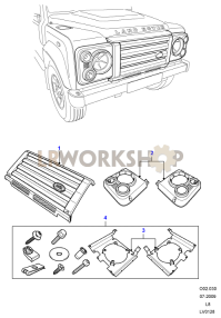 Headlamp Surrounds And Grille Part Diagram