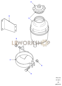 Power Steering Reservoir-Plastic Part Diagram
