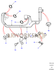 Power Steering Pipes Part Diagram