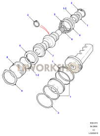 Worm & Valve - Adwest Lightweight Part Diagram