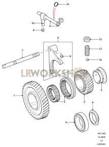 High/Low Gear Part Diagram
