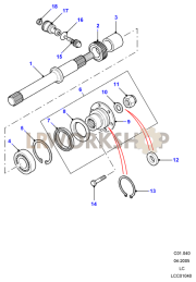 Rear Output Flange Part Diagram