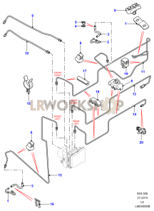 Brake Pipes Diagrams - Find Land Rover parts at LR Workshop