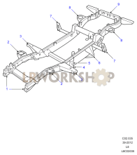 Replacement Chassis Outriggers Part Diagram