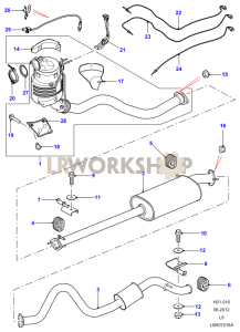 Exhaust System 130 Part Diagram