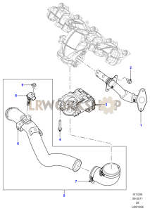 EGR Valves and Pipes Part Diagram