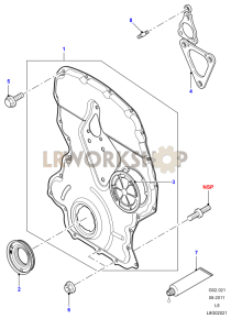 Timing Gear Cover Part Diagram