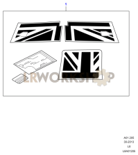 Union Jack Decals Part Diagram
