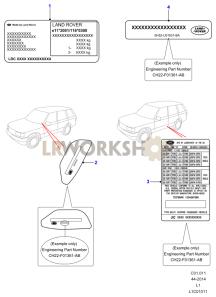 Vin Plates & Instruction Decals Part Diagram