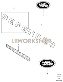 body diagrams find land rover parts at lr workshop Land Rover labels decals badges part diagram