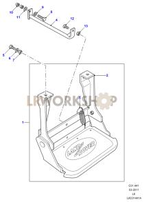 Side Folding Steps Part Diagram