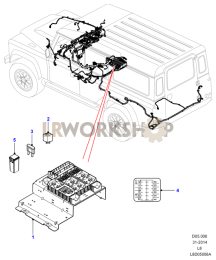 Under Seat Fuse Box Part Diagram