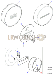 Covers-Spare Wheel Part Diagram