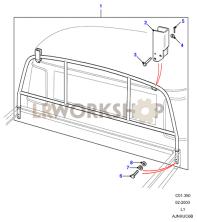 Loadbed Ladder Rack Part Diagram