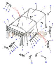 Hoodsticks - Cab Fixing Part Diagram