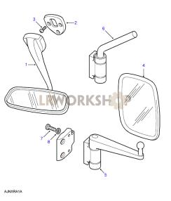 Mirrors - Interior & Exterior Part Diagram