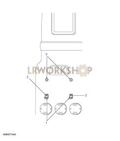 Number Plate Fixings Part Diagram