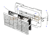 Radiator Grille Chaff Guard Part Diagram
