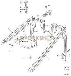 Rear Body Cappings Part Diagram