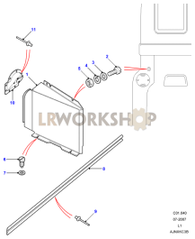 Rear Body Lamp Covers Part Diagram