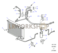 Air Conditioning - Condenser (Td5 AUS) Part Diagram