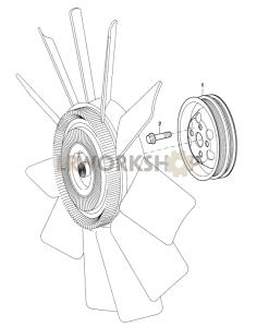 Cooling Fan Part Diagram