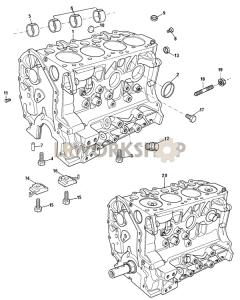 Cylinder Block Part Diagram