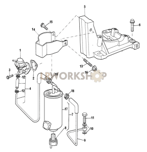 Fuel Lift Pump and Filter Part Diagram