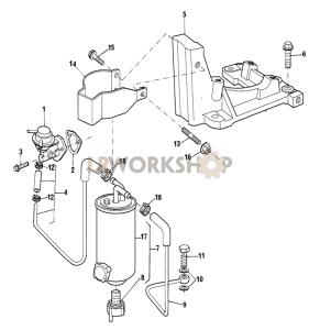 Fuel Lift Pump and Filter Part Diagram