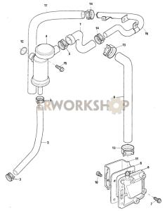 Crankcase Ventilation Part Diagram