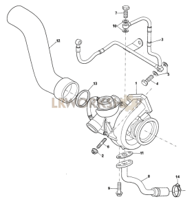Turbocharger Part Diagram