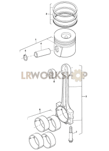 Pistons and Connecting Rods Part Diagram
