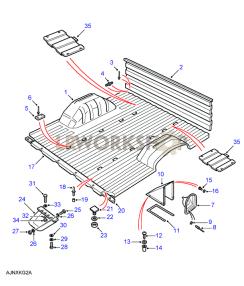 Rear Body Lower - Floor & Bulkhead Part Diagram