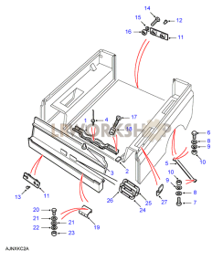 Rear Body Lower - Mountings Part Diagram