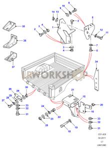 Rear Body Lower - Mountings Part Diagram