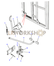 Rear End Door Check Mechanism - Lever Type Part Diagram