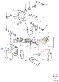 Rear End Door Latch Mechanism Part Diagram