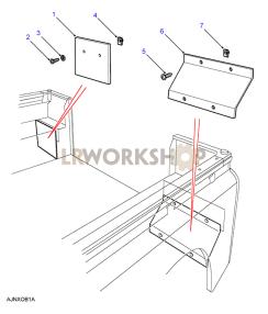 Rear Lamp Protectors Part Diagram