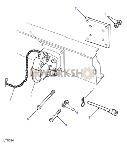 Towing Equipment - Rotating Pintle Part Diagram