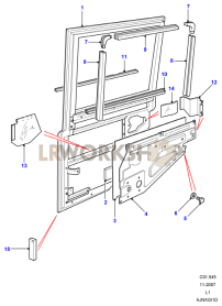Rear Side Door Assembly Part Diagram