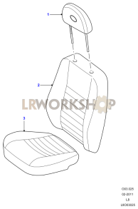 Front Seats Part Diagram