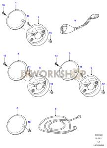 Lamps Rear - Indicator,fog,reverse Part Diagram