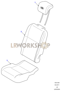 Loadspace Seat Covers Part Diagram