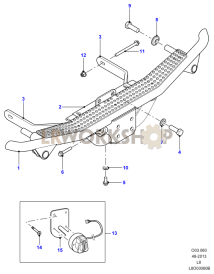 Rear Towing Step Part Diagram