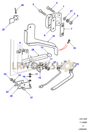 Rear Side Door Hinges & Check Strap Part Diagram