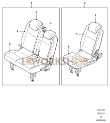 Middle Row Seats Part Diagram